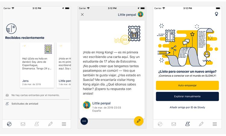 App para conocer gente Slowly